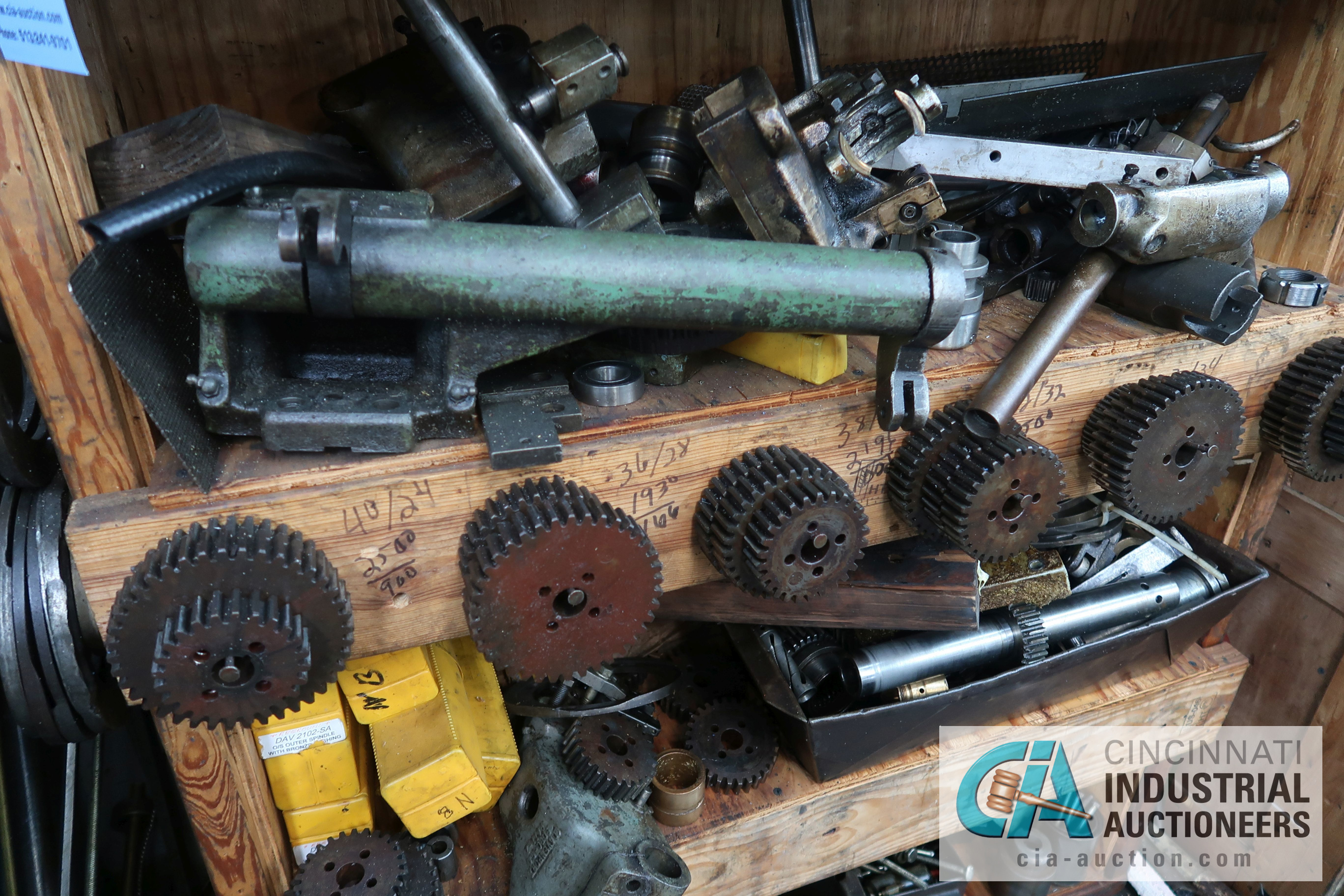 (LOT) LARGE ASSORTMENT MISCELLANEOUS DAVENPORT TOOLING, ATTACHMENTS, GEARS, CAMS AND OTHER RELATED - Image 6 of 21