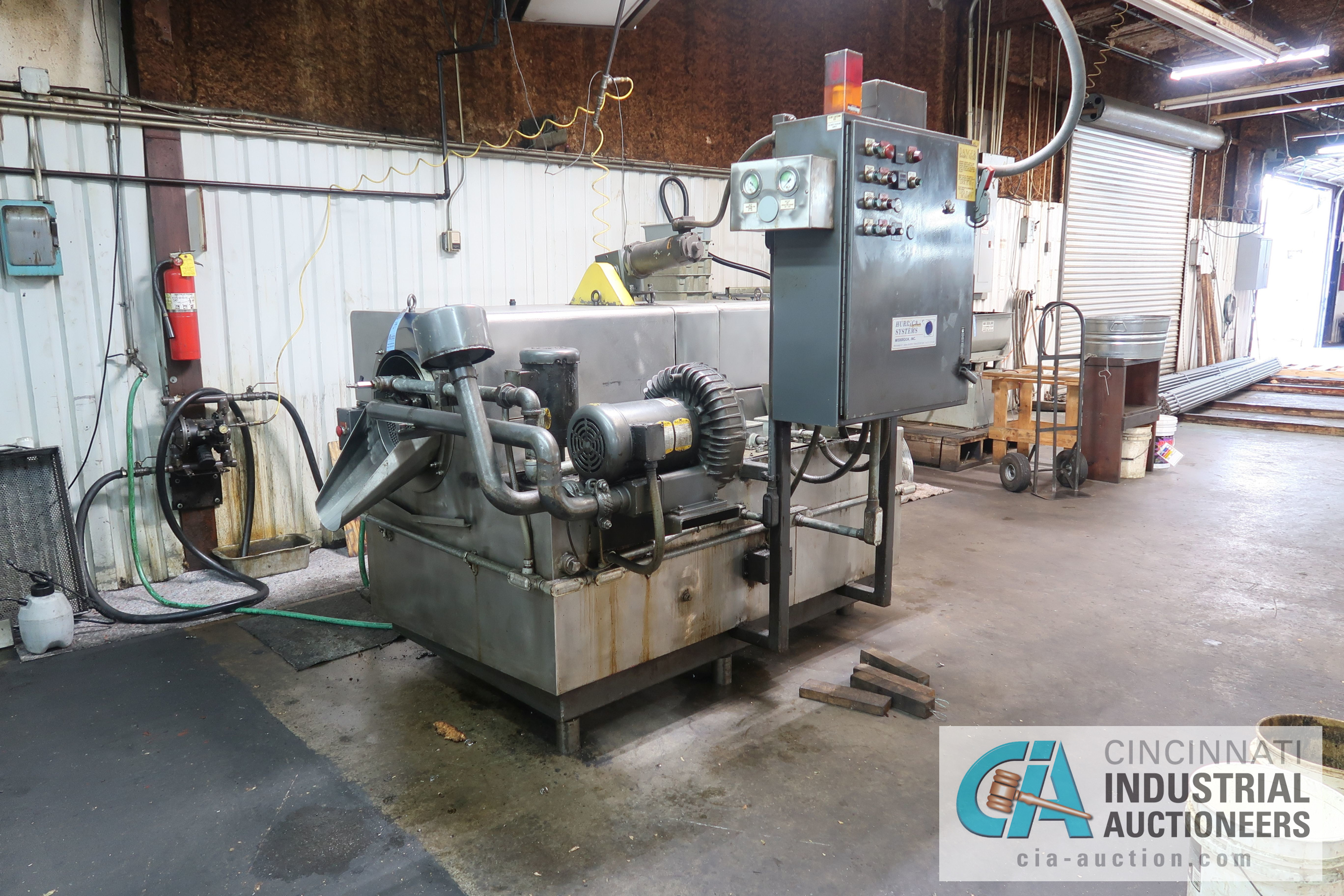 Lot 34 - HURRICANE MODEL 50RD PARTS WASHER; S/N 43709-002 (NEW 1997), 8,736 HOURS SHOWING, 3-PHASE
