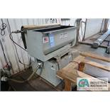 "MR. DEBURR MODEL 300 DEBURRING SYSTEM; S/N N/A, 13"" X 31"" X 14"" U-SHAPED TROUGH, 3 HP MOTOR,"