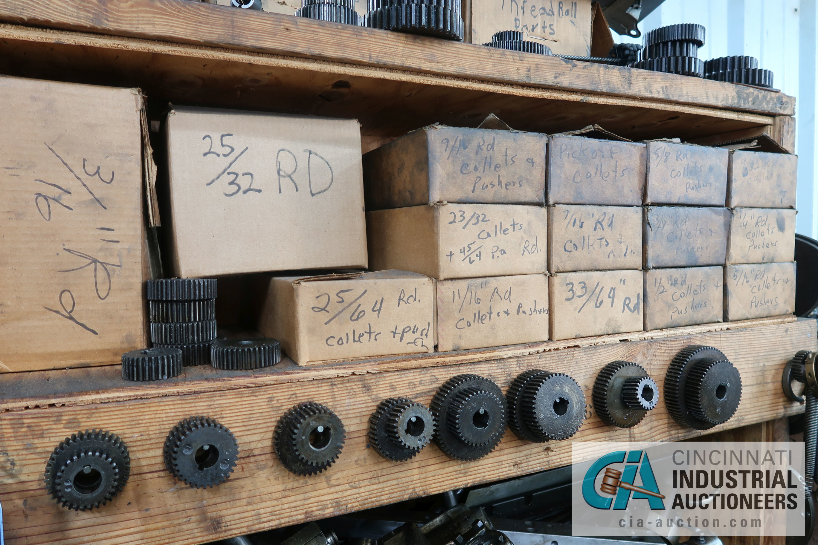(LOT) LARGE ASSORTMENT MISCELLANEOUS DAVENPORT TOOLING, ATTACHMENTS, GEARS, CAMS AND OTHER RELATED - Image 5 of 21