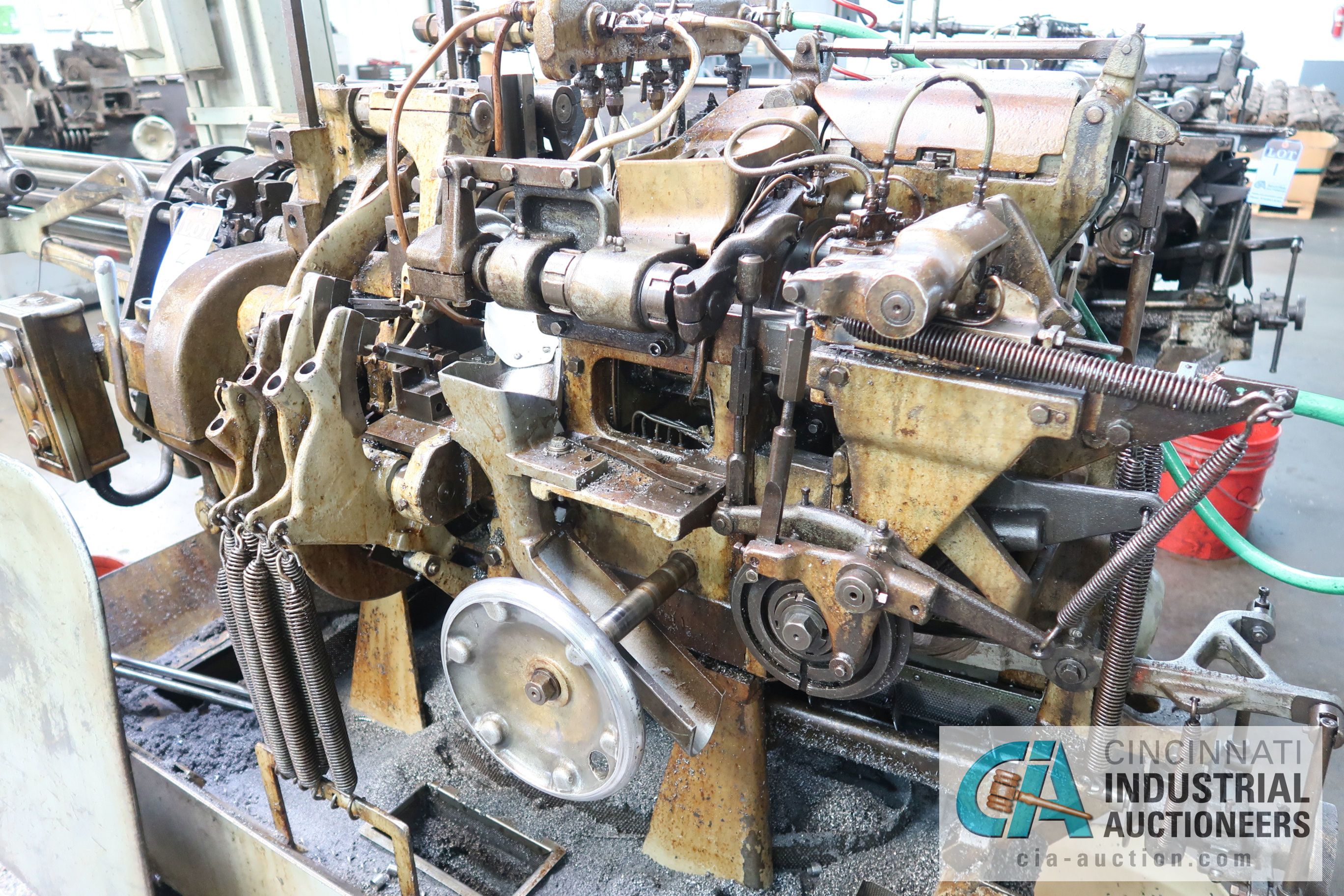 """3/4"""" DAVENPORT 5-SPINDLE SCREW MACHINE; S/N 8077 (NEW 11-1973), WITH THREADING CLUTCH, PICK OFF, - Image 2 of 4"""