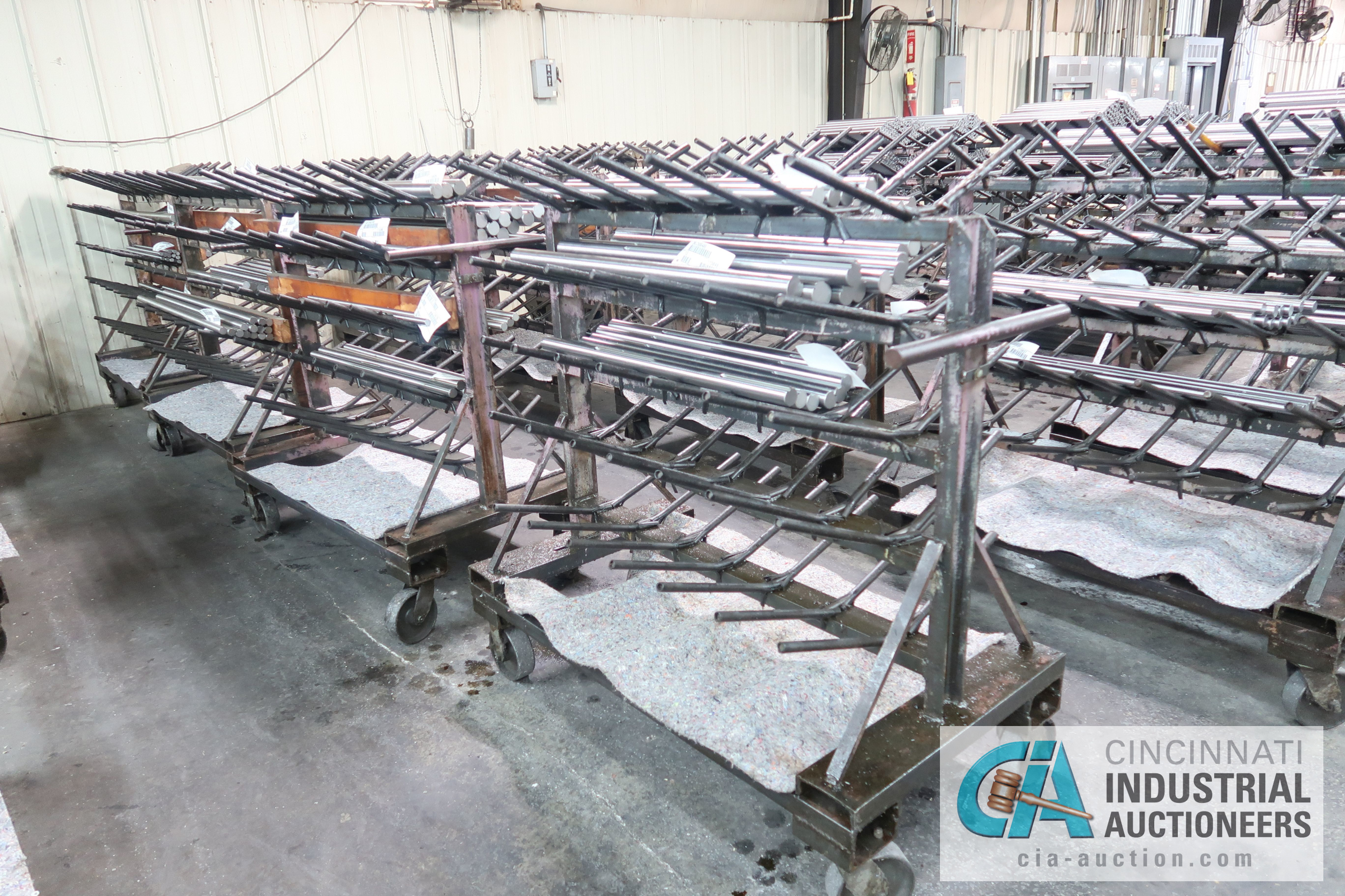 """APPROX. 24"""" X 50"""" X 48"""" HIGH HEAVY DUTY PORTABLE MULTI LEVEL MATERIAL CARTS ** CARTS ONLY, NO - Image 2 of 5"""