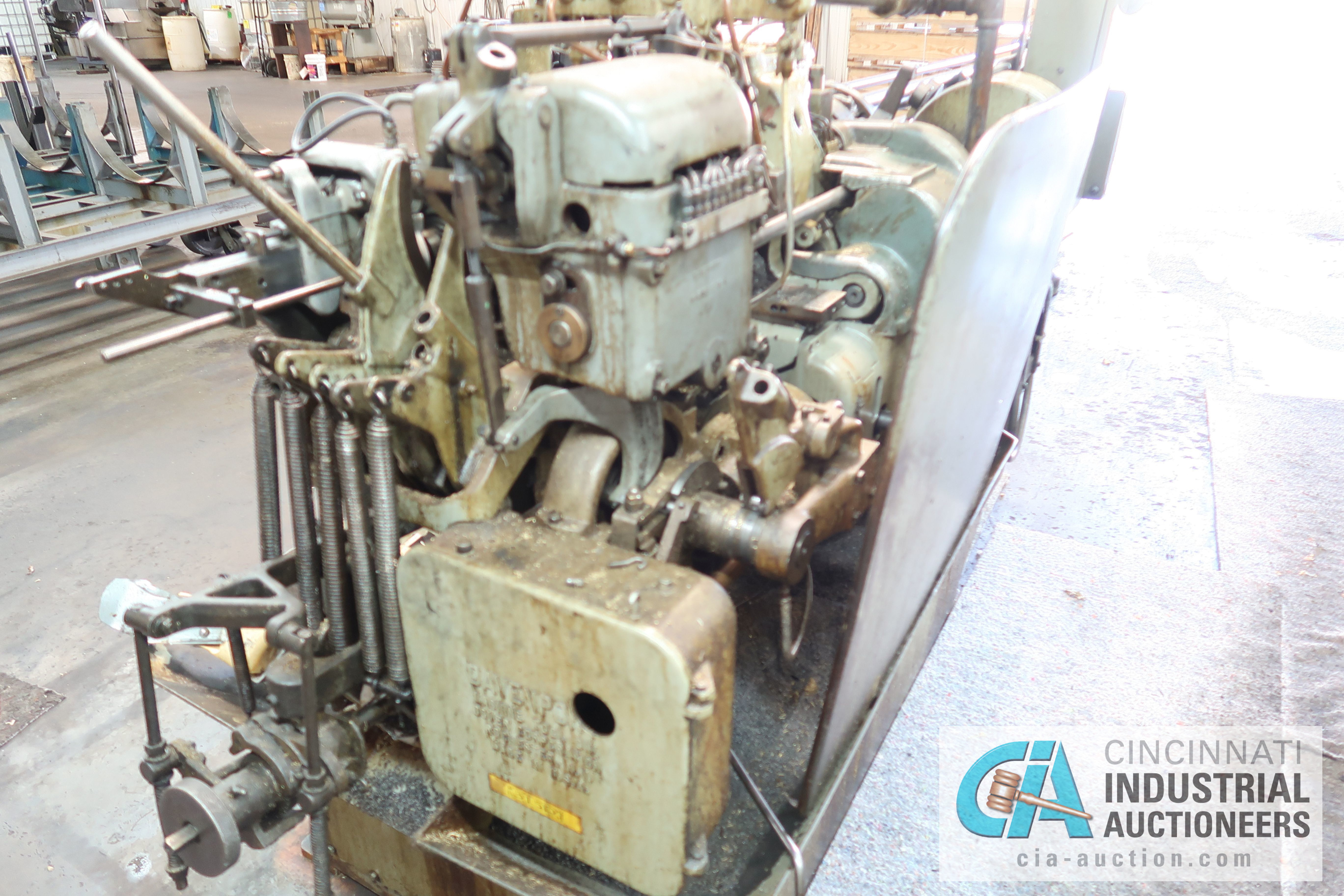 "Lot 10 - 3/4"" DAVENPORT 5-SPINDLE SCREW MACHINE; S/N 12004 (NEW 6-1983) WITH THREADING CLUTCH, PICK OFF AND"