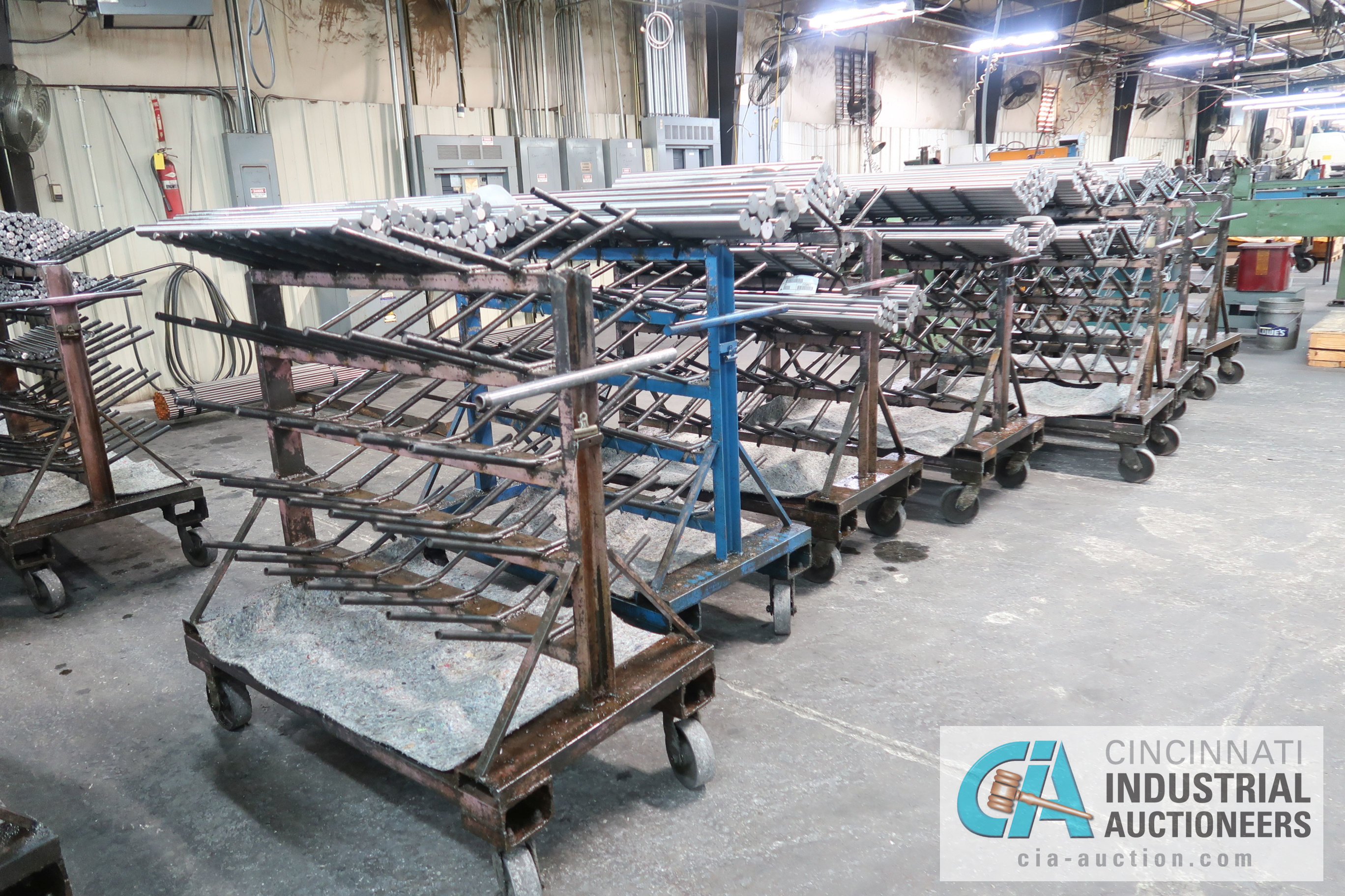 """APPROX. 24"""" X 50"""" X 48"""" HIGH HEAVY DUTY PORTABLE MULTI LEVEL MATERIAL CARTS ** CARTS ONLY, NO - Image 4 of 5"""