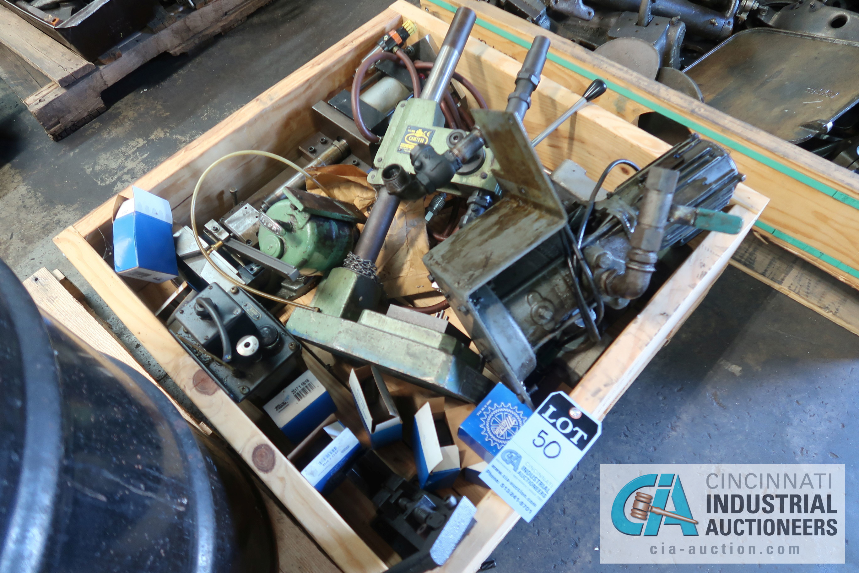 Lot 50 - CRATE MISCELLANEOUS BENCH PRESSES