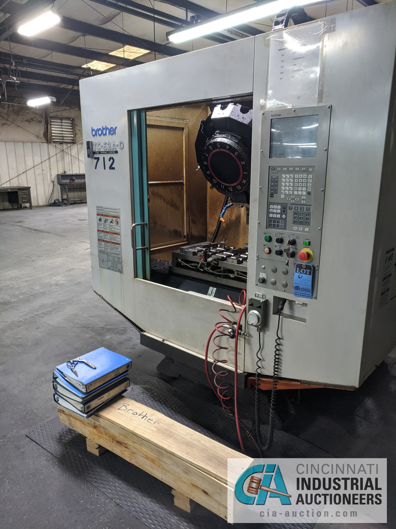Lot 61 - BROTHER MODEL TC-S2A-O CNC DRILL AND TAP MACHINE; S/N 113839 (NEW 2003)