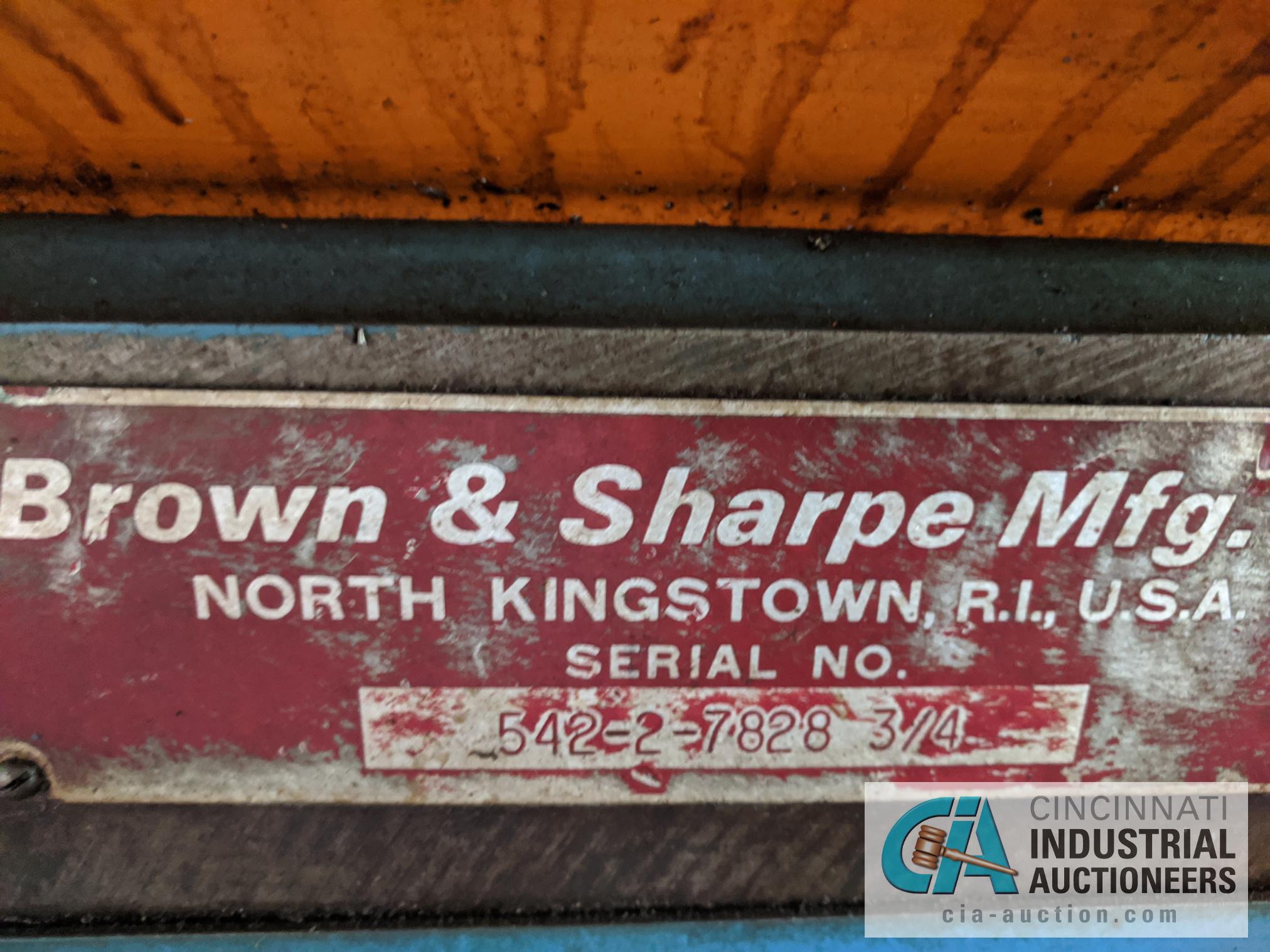 Lot 60 - BROWN AND SHARPE NO. 2 SCREW MACHINE S/N 542-2-7828