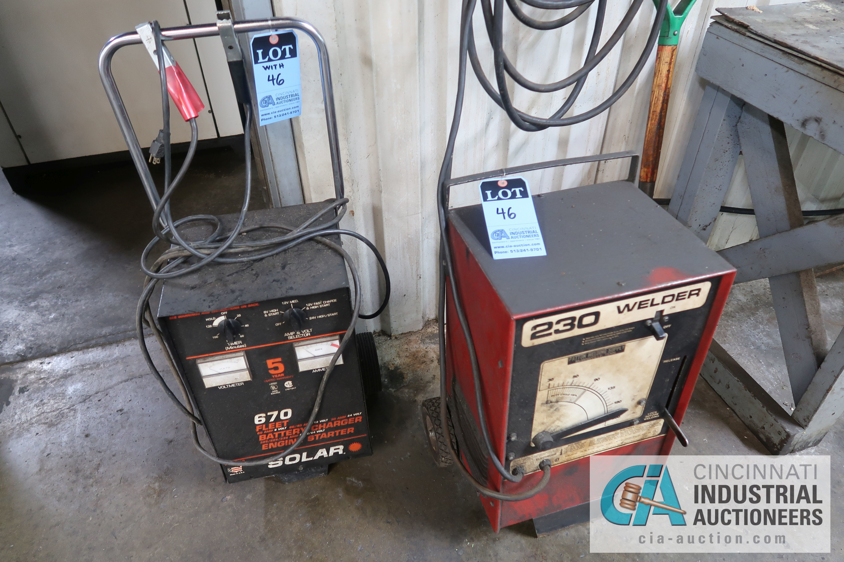 230 AMP BUZZ BOX WELDER WITH SOLAR 670 FLEET BATTERY CHARGER / ENGINE STARTER