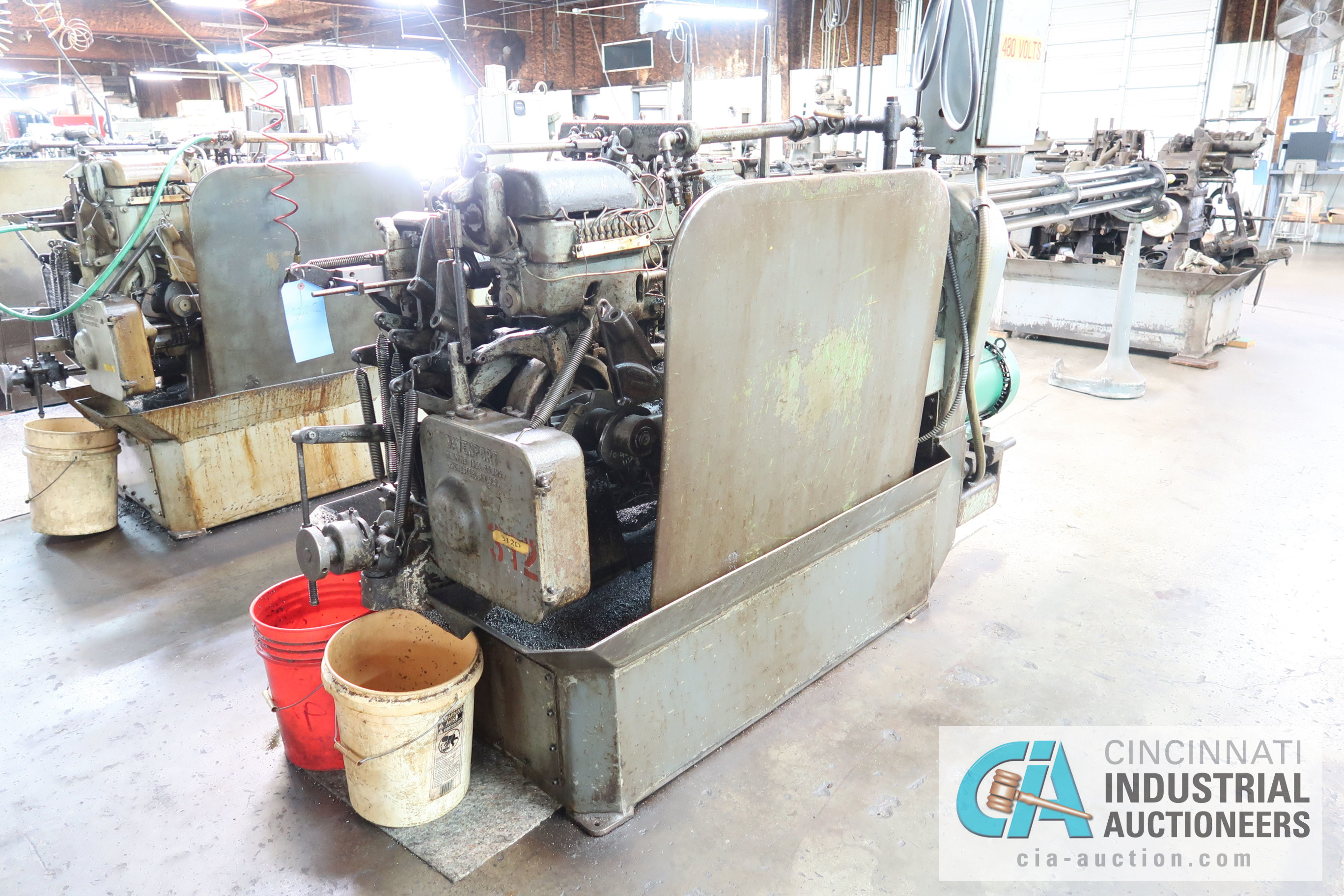 """3/4"""" DAVENPORT 5-SPINDLE SCREW MACHINE; S/N 5698, WITH PICKOFF ATTACHMENT AND THREADING CLUTCH, - Image 2 of 4"""