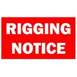 IMPORTANT RIGGING NOTICE
