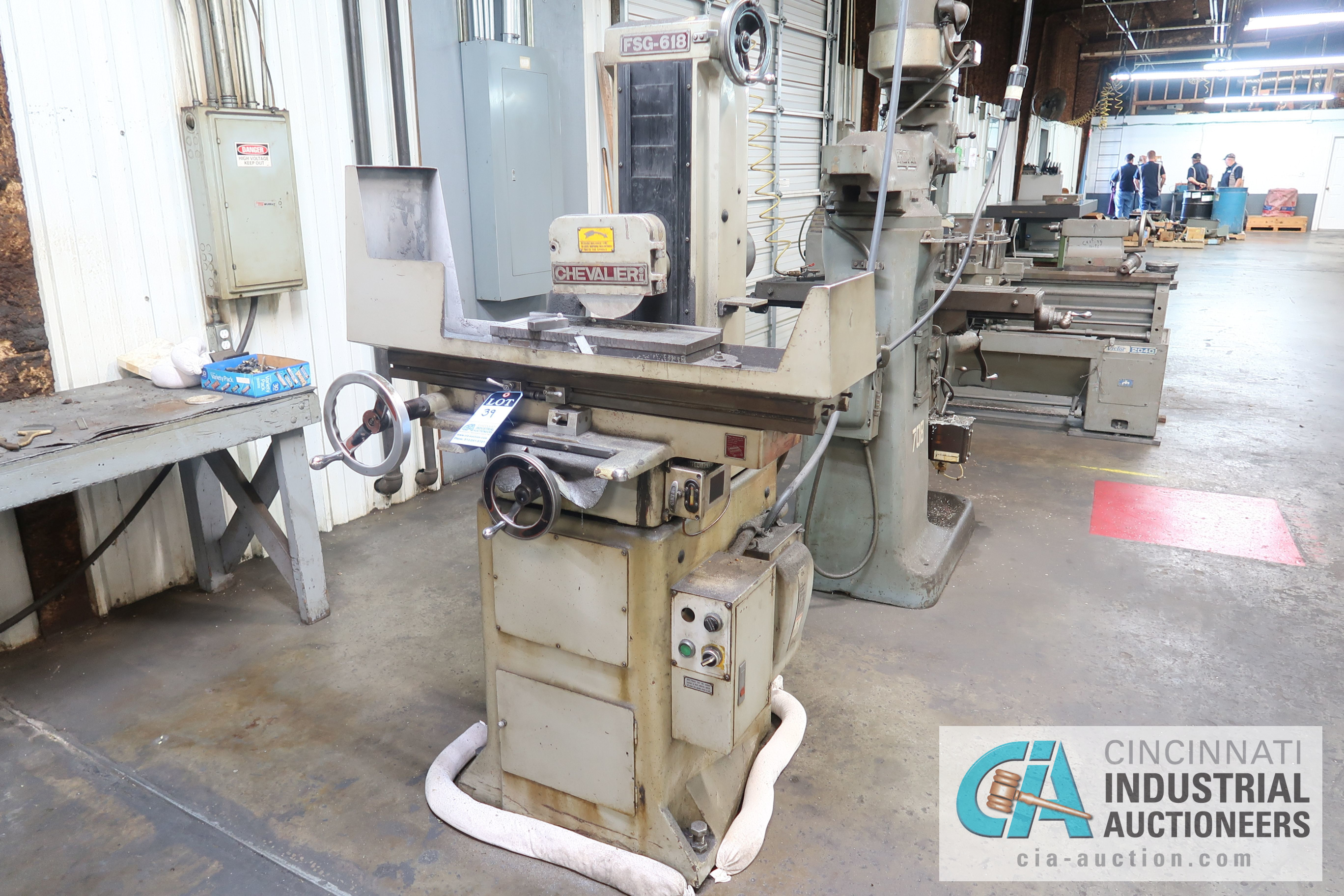 """6"""" X 18"""" CHEVALIER MODEL FSG618 HAND FEED SURFACE GRINDER; S/N 02C-5136"""
