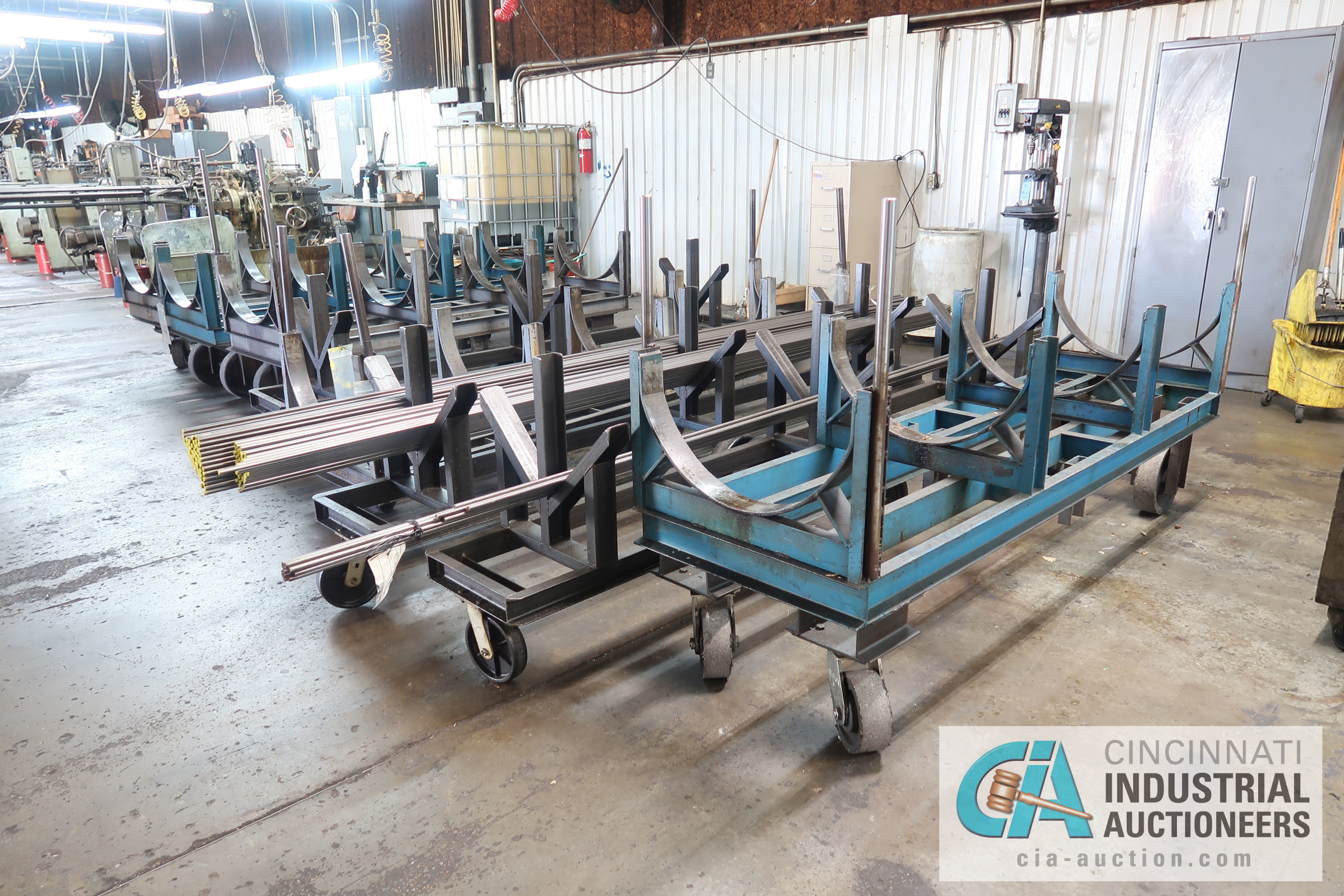 MISCELLANEOUS LENGTH HEAVY DUTY BAR STOCK CARTS **NO MATERIAL CARTS ONLY** - Image 2 of 4