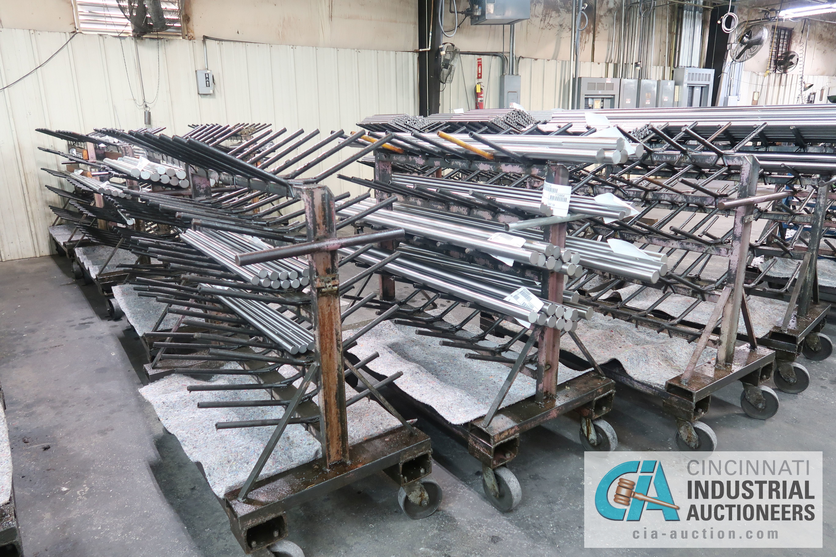 """APPROX. 24"""" X 50"""" X 48"""" HIGH HEAVY DUTY PORTABLE MULTI LEVEL MATERIAL CARTS ** CARTS ONLY, NO - Image 3 of 5"""