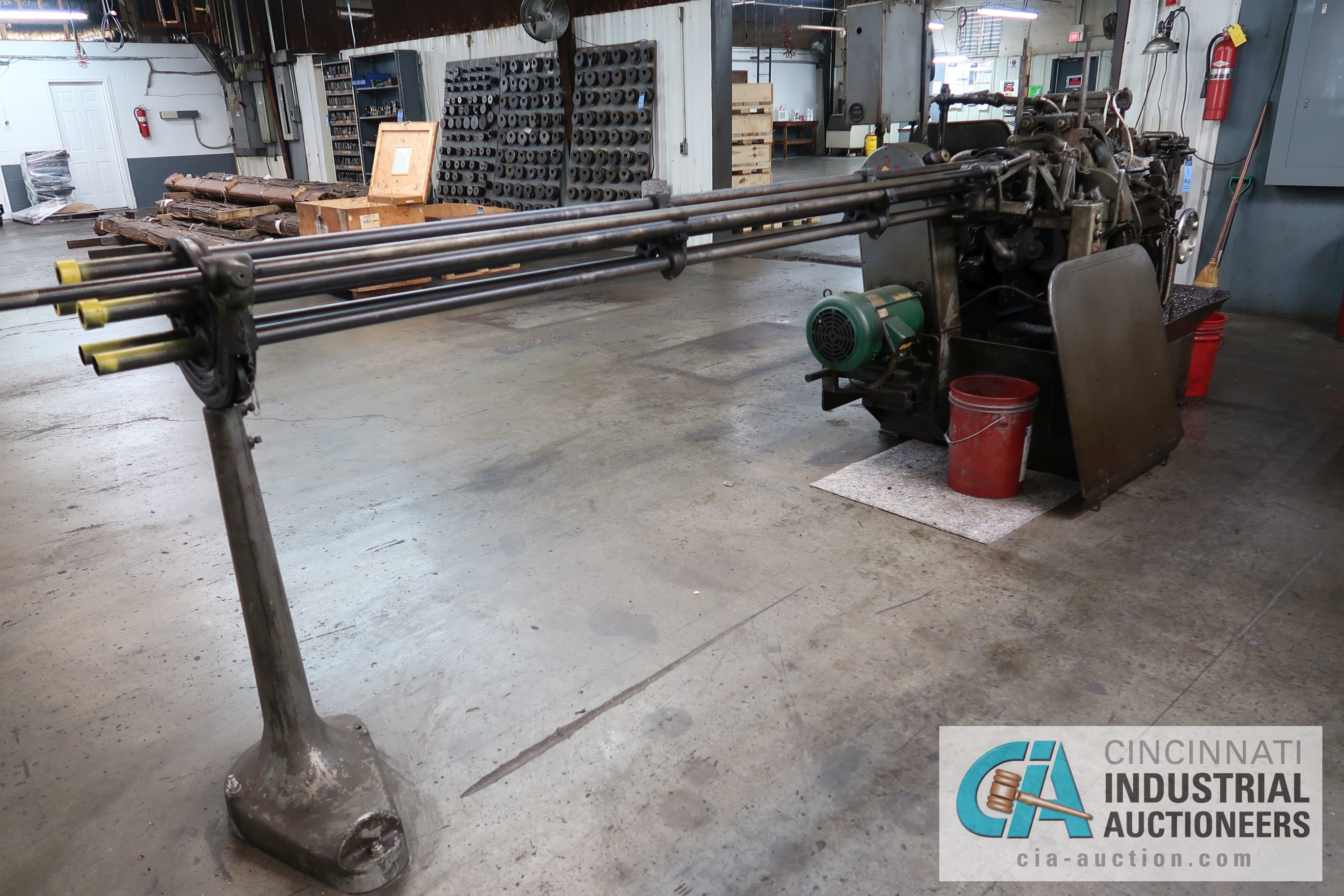 """3/4"""" DAVENPORT 5-SPINDLE SCREW MACHINE; S/N 5698, WITH PICKOFF ATTACHMENT AND THREADING CLUTCH, - Image 4 of 4"""