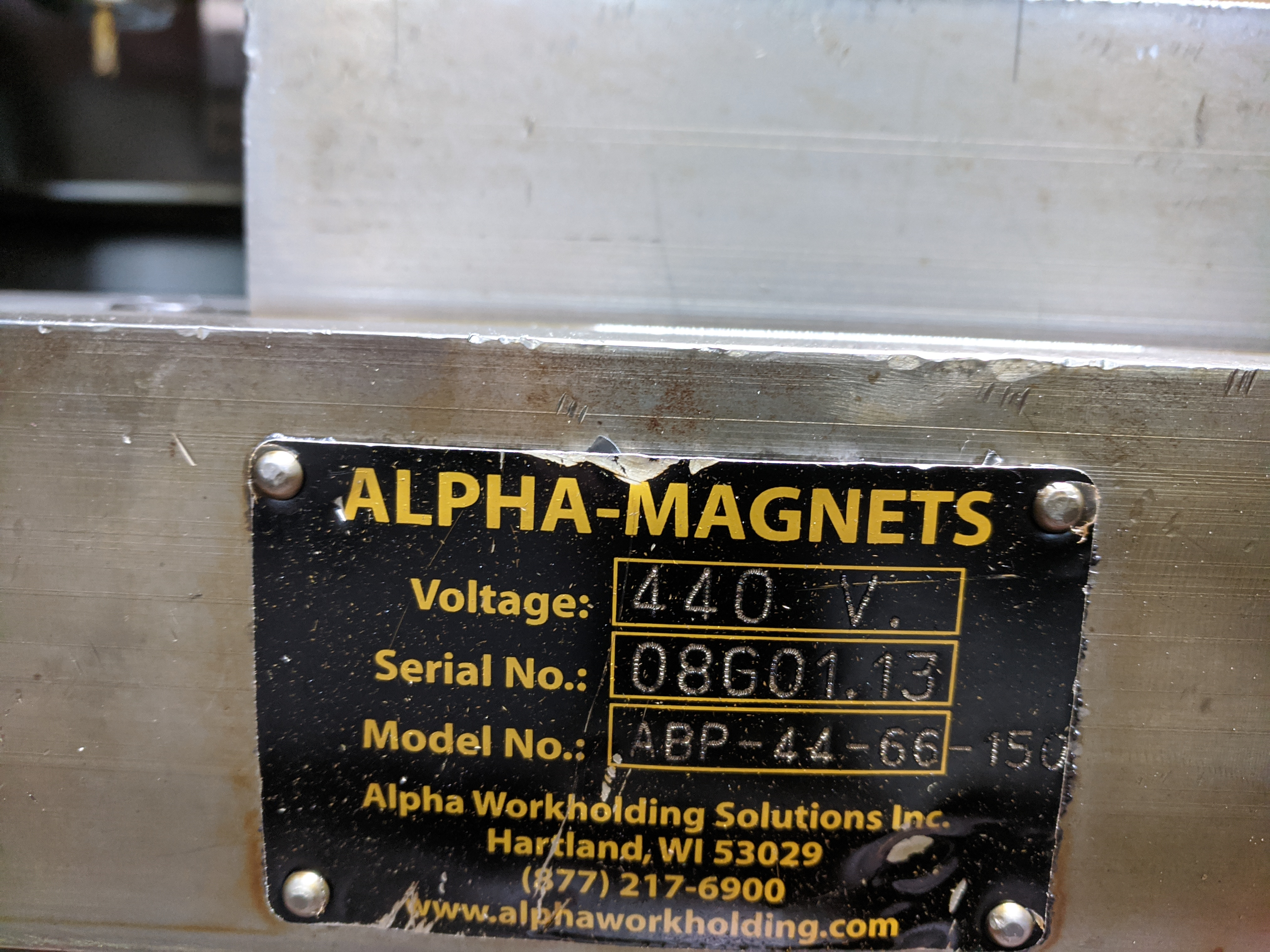 """26"""" X 58"""" ALPHA MAGNETIC CHUCK ON JOHNFORD MACHINING CENTER - Image 2 of 3"""
