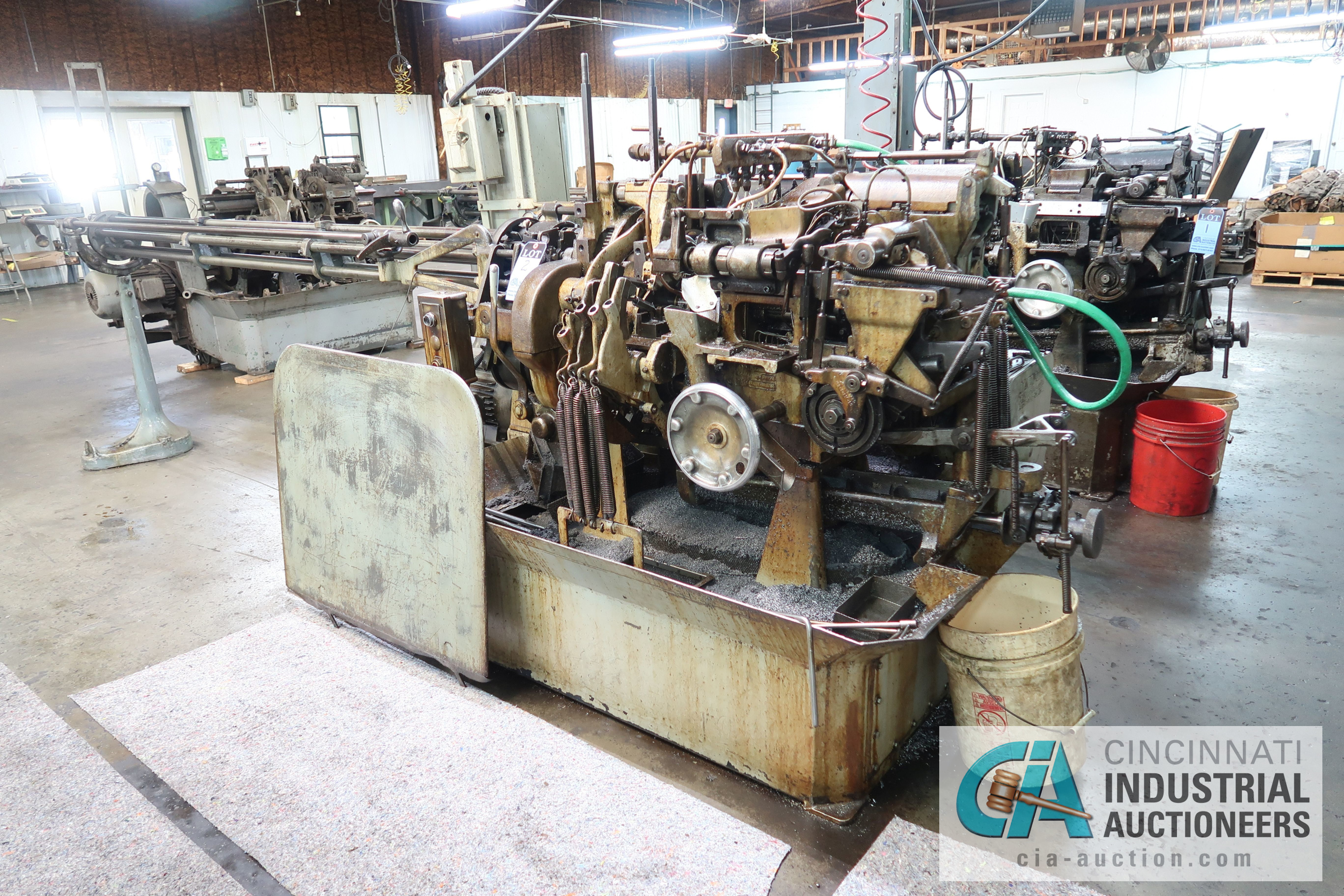 """3/4"""" DAVENPORT 5-SPINDLE SCREW MACHINE; S/N 8077 (NEW 11-1973), WITH THREADING CLUTCH, PICK OFF,"""