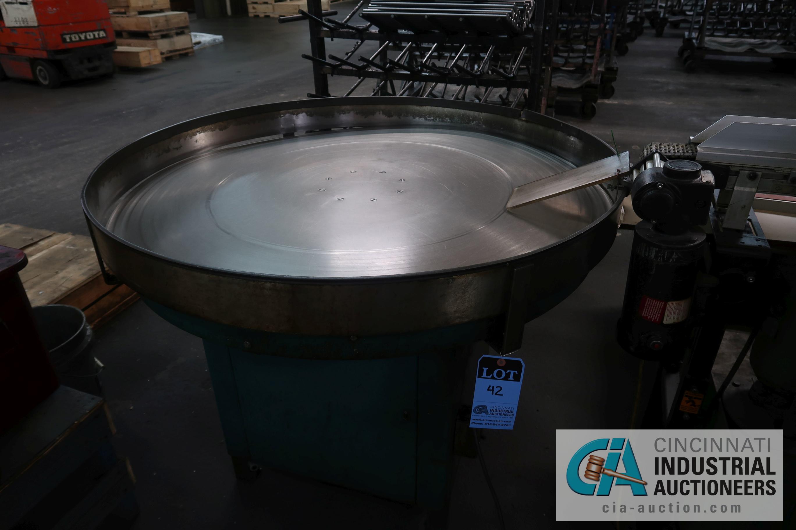 """48"""" DIAMETER BILT-RITE MODEL RT820 FLOOR TURN TABLE; S/N 32209"""