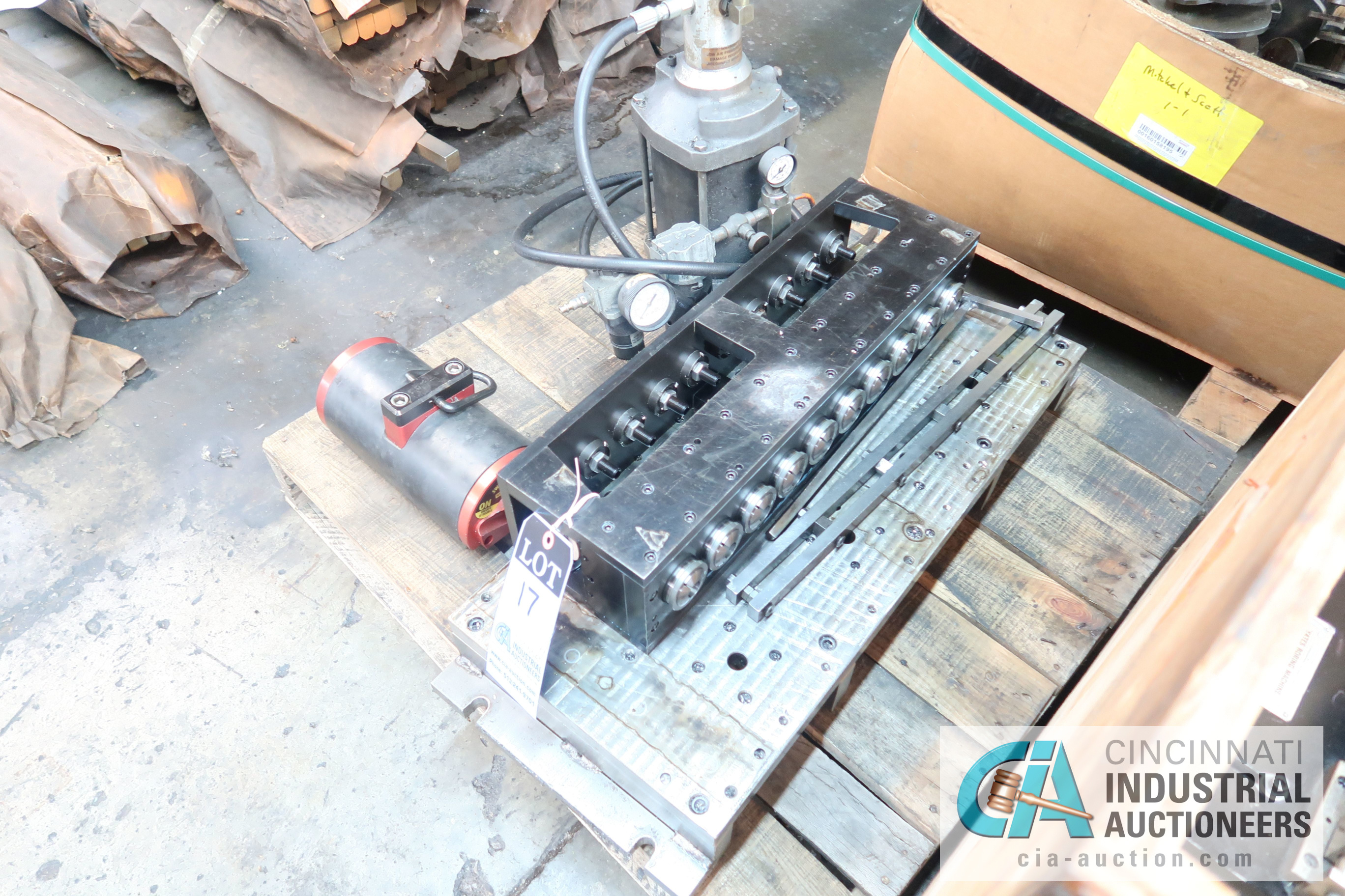 Lot 17 - TEN COLLET AIR / HYDRAULIC CHUCKING SYSTEMS