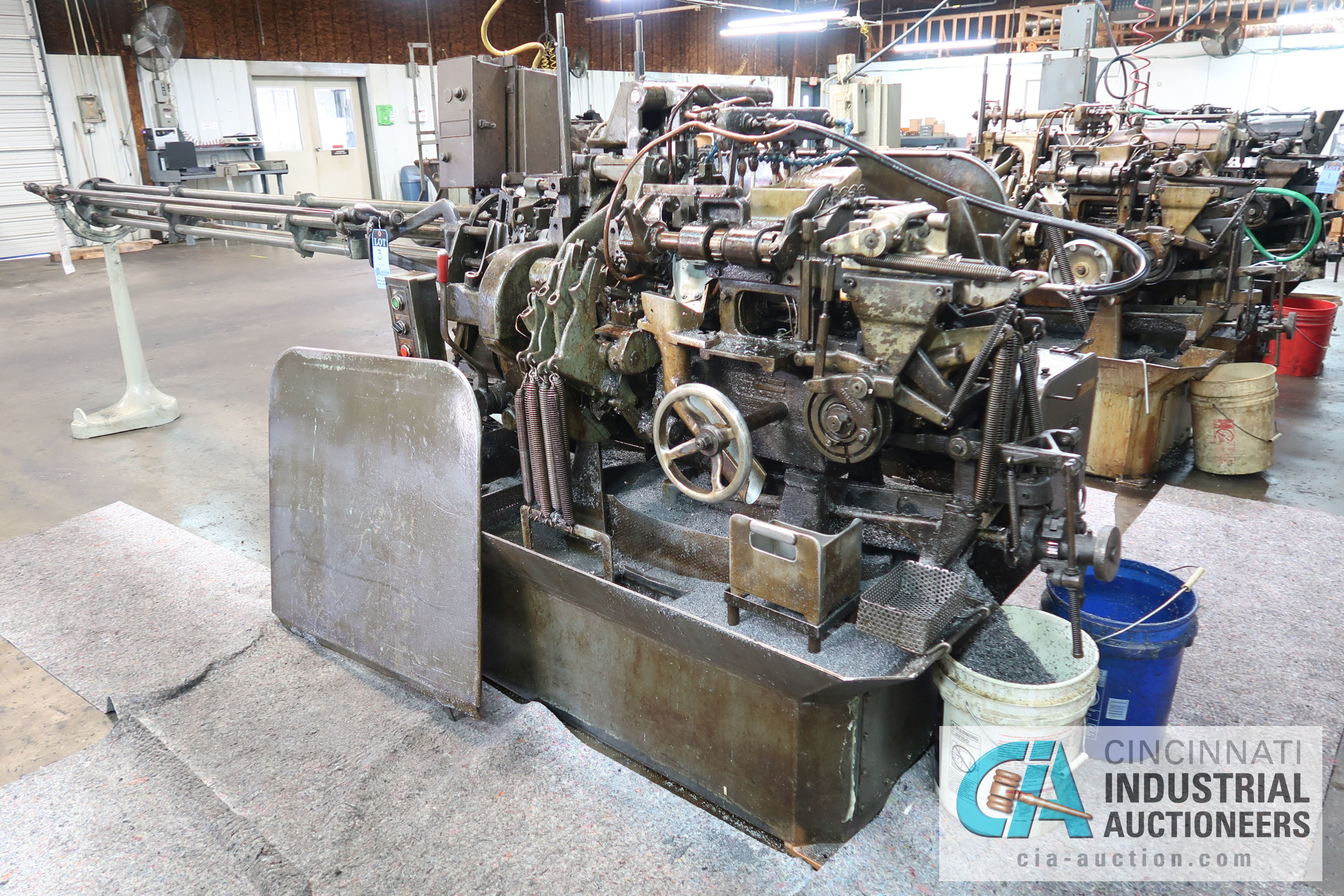 """Lot 3 - 3/4"""" DAVENPORT 5-SPINDLE SCREW MACHINE; S/N 11002 (NEW 11-1981) WITH 4TH POS. THREAD ROLL, PICK OFF,"""