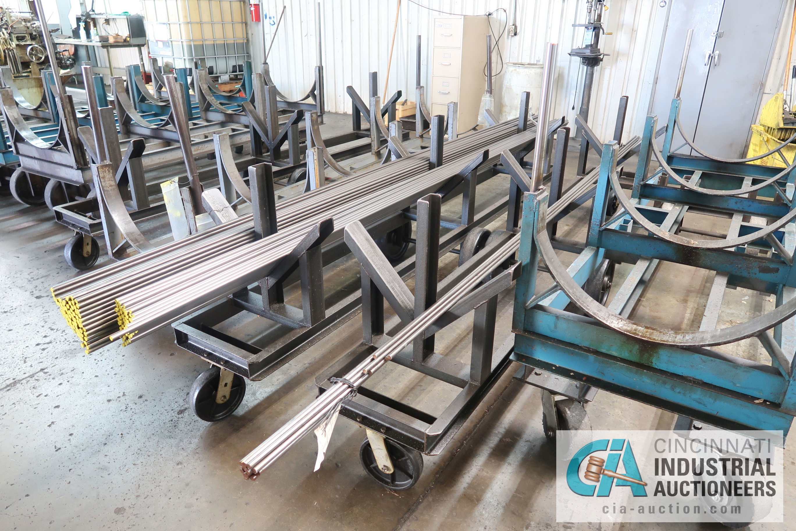 MISCELLANEOUS LENGTH HEAVY DUTY BAR STOCK CARTS **NO MATERIAL CARTS ONLY** - Image 3 of 4