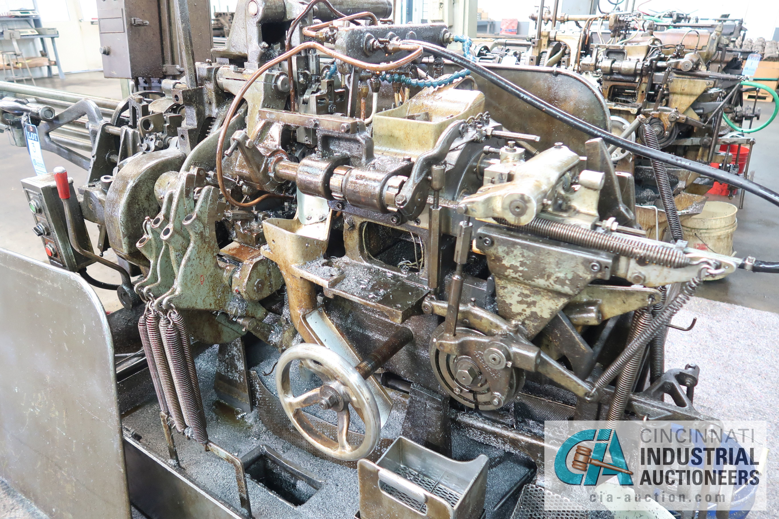 """3/4"""" DAVENPORT 5-SPINDLE SCREW MACHINE; S/N 11002 (NEW 11-1981) WITH 4TH POS. THREAD ROLL, PICK OFF, - Image 2 of 4"""