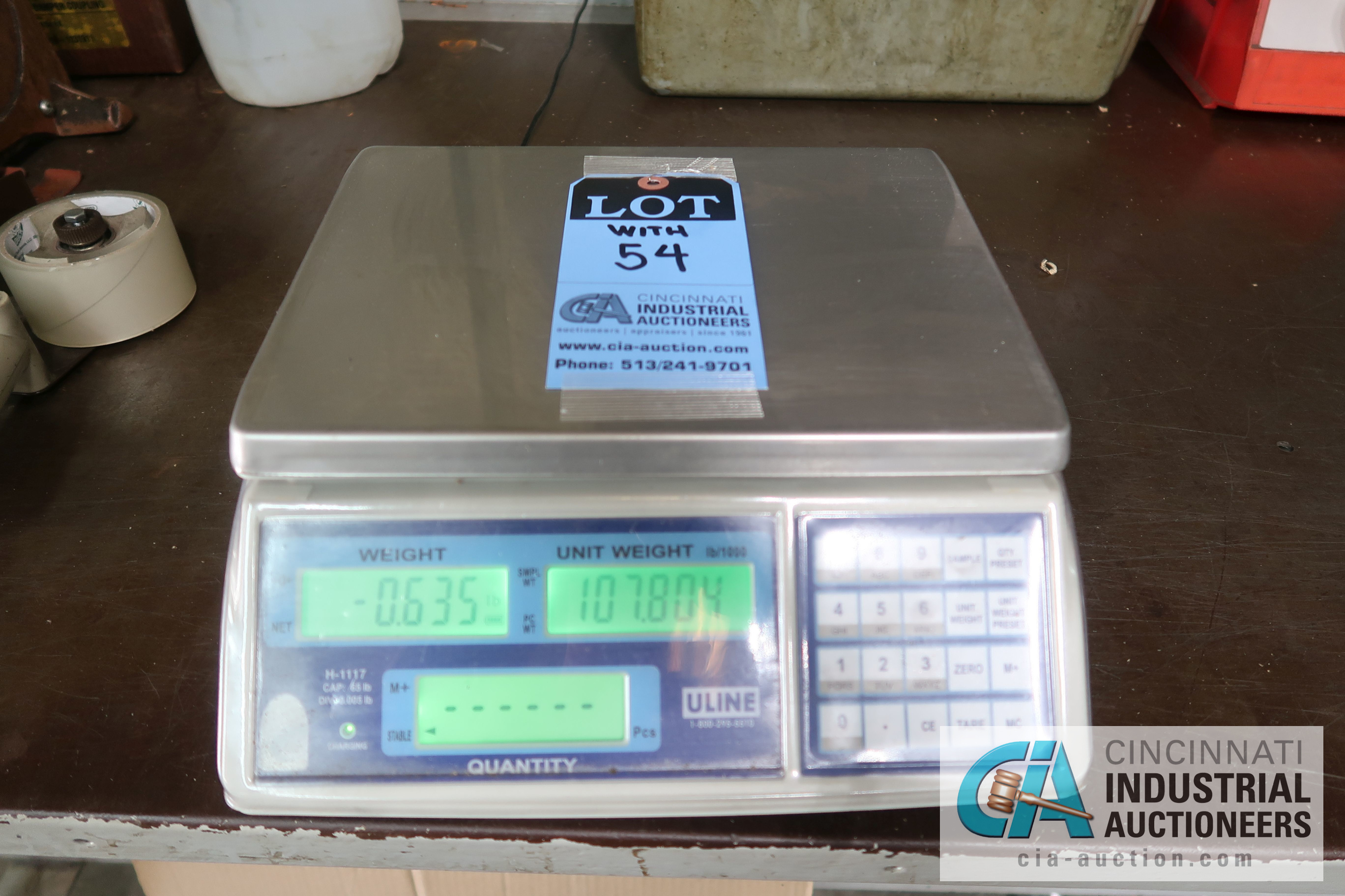 100 LB. CAPACITY METTLER-TOLEDO MODEL 8582 COUNTING SCALES WITH (1) 65 LB. CAPACITY ULINE MODEL H- - Image 3 of 3