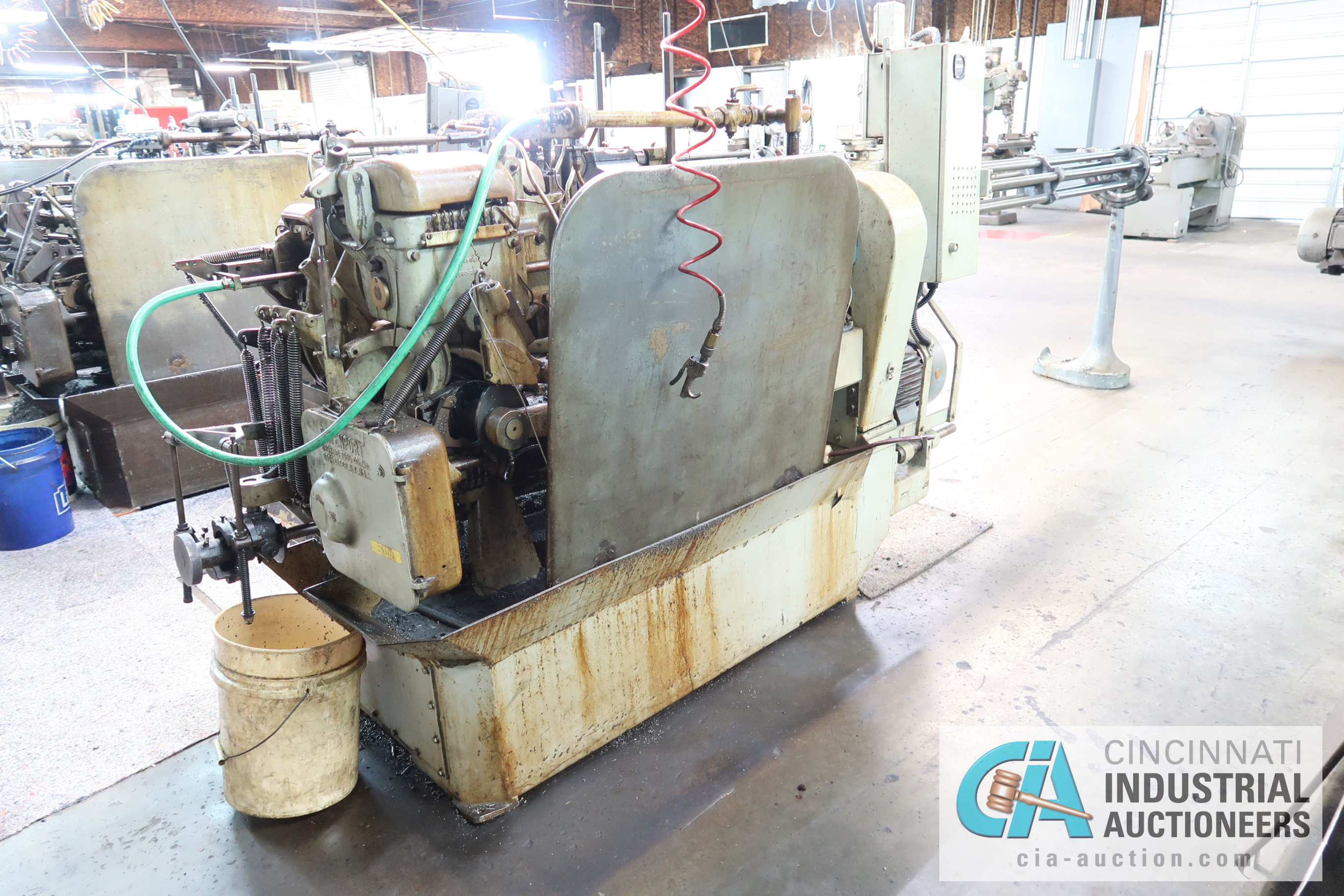"""3/4"""" DAVENPORT 5-SPINDLE SCREW MACHINE; S/N 8077 (NEW 11-1973), WITH THREADING CLUTCH, PICK OFF, - Image 3 of 4"""