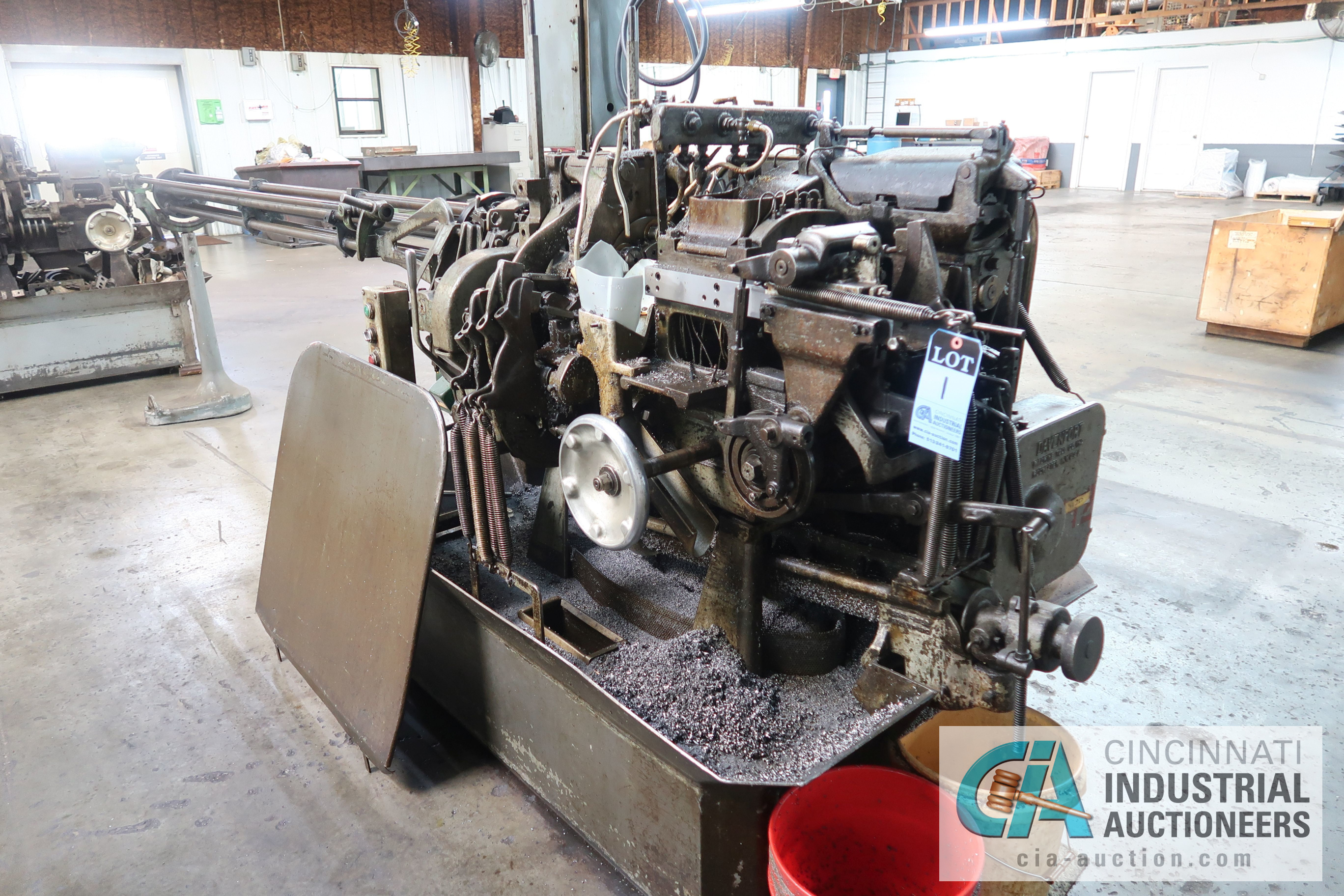 """3/4"""" DAVENPORT 5-SPINDLE SCREW MACHINE; S/N 5698, WITH PICKOFF ATTACHMENT AND THREADING CLUTCH, - Image 3 of 4"""
