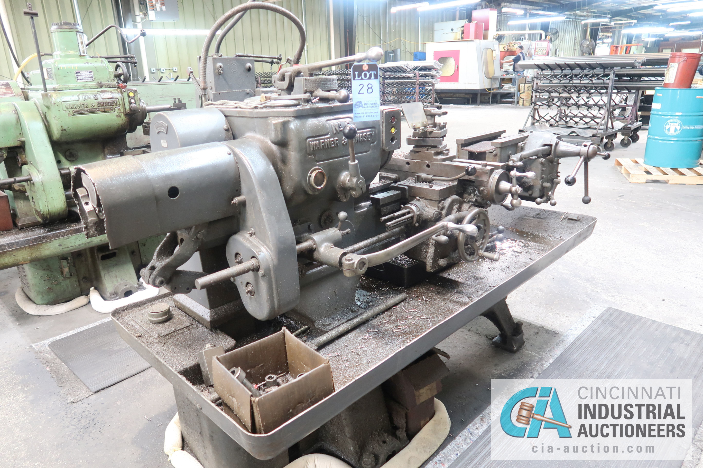(Former lot 28) WARNER AND SWASEY MODEL 3 LATHE; S/N 663697
