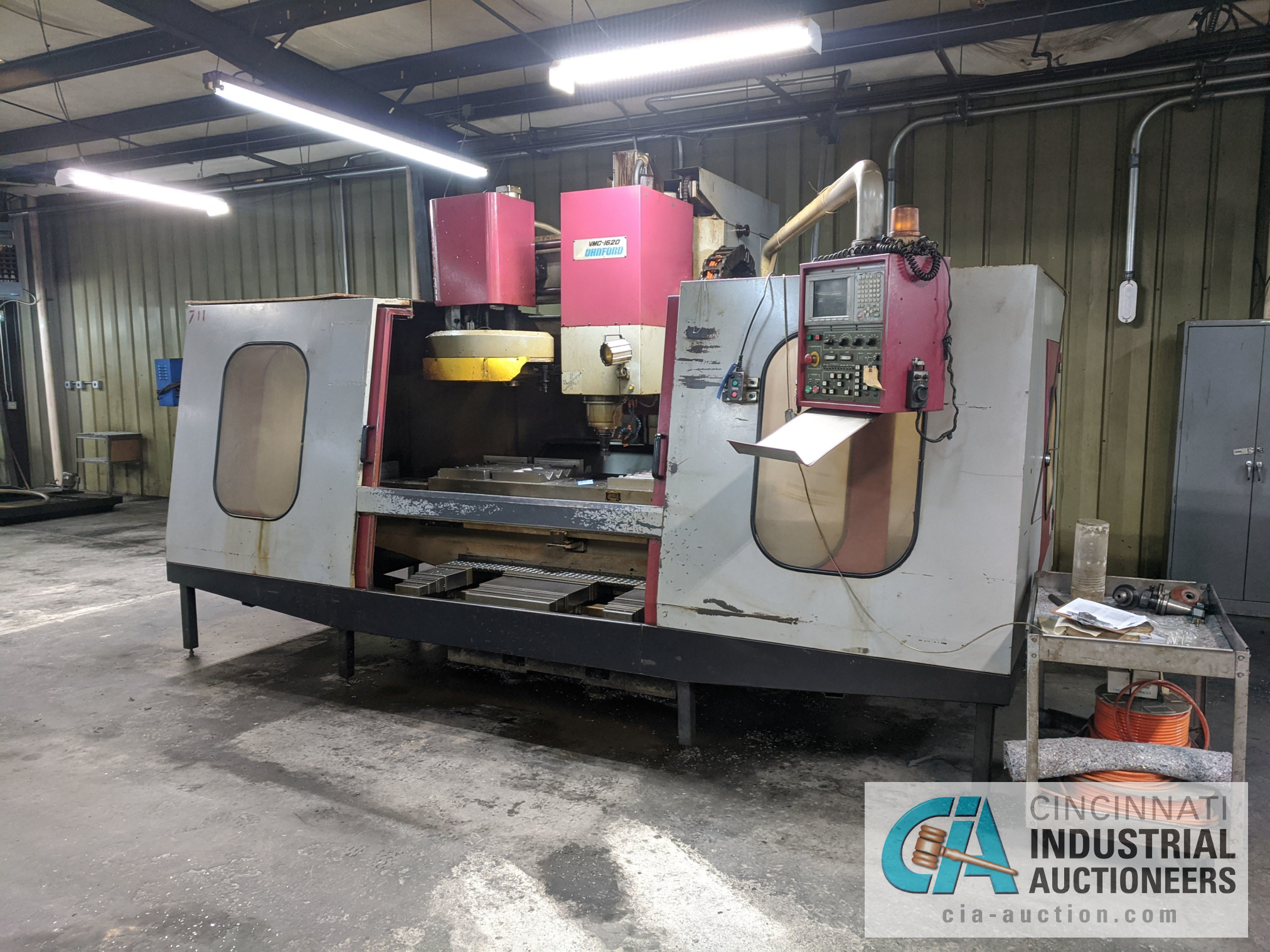 (Former lot 31) JOHNFORD MODEL VMC1620 CNC VMC; S/N F6052 (NEW 1996), Magnetic Chuck Not Included