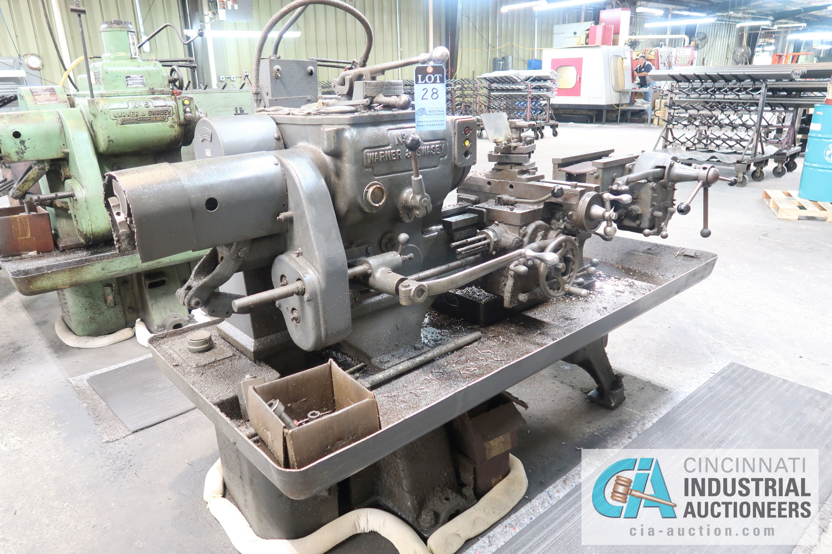 (Former lot 28) WARNER AND SWASEY MODEL 3 LATHE; S/N 663697 - Image 4 of 7