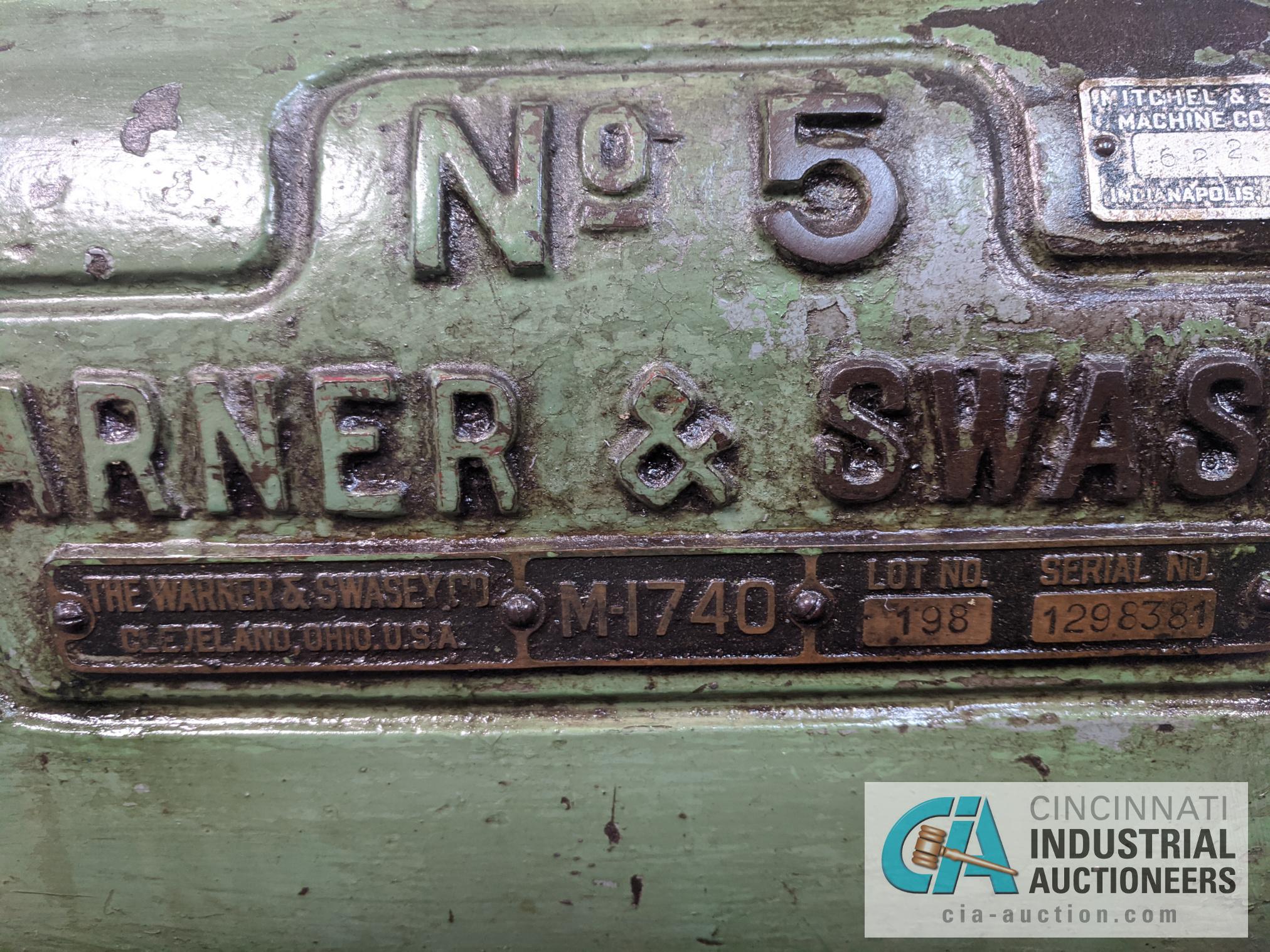 (Former lot 67) WARNER SWASEY NO. 5 TURRET LATHE - Image 10 of 10
