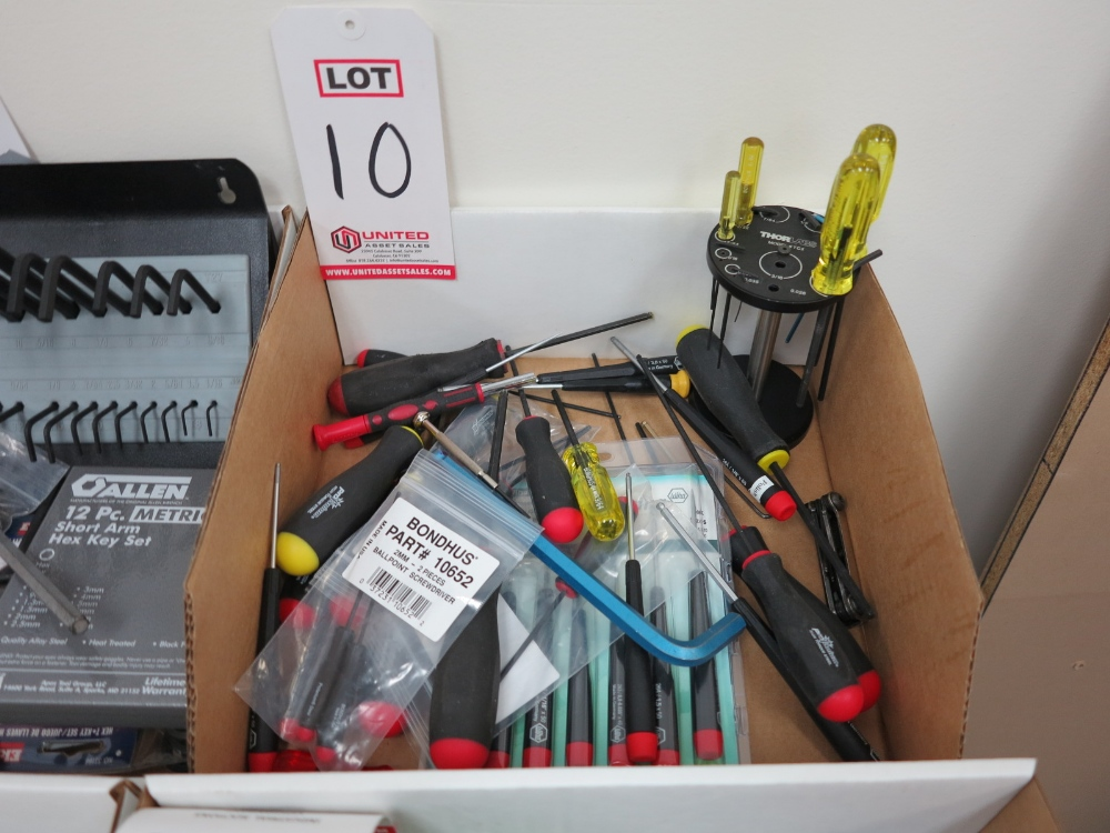 Lot 10 - LOT - BALL POINT ALLEN WRENCHES