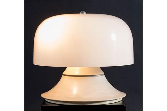 Lampade In Vetro Anni 70 : Lampada da tavolo in vetro frizzante anni murano glass table