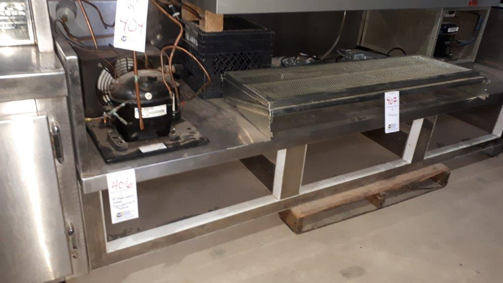 Lot 406 - 8' Stainless steel equipment table