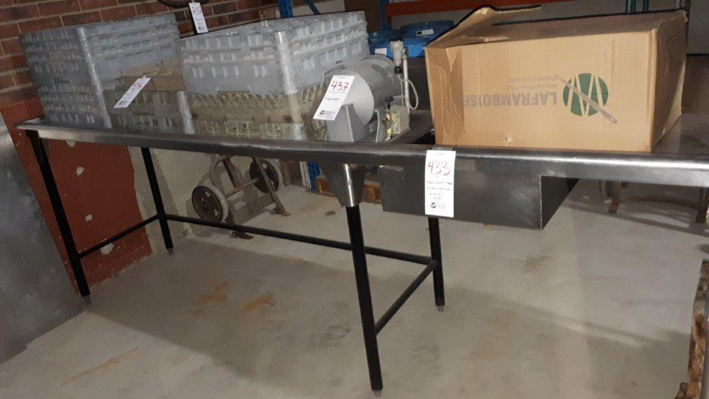 Lot 433 - Stainless steel dishwasher counter 105""