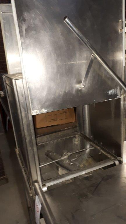 Lot 432 - Hobart stainless steel dishwasher, model: AM14