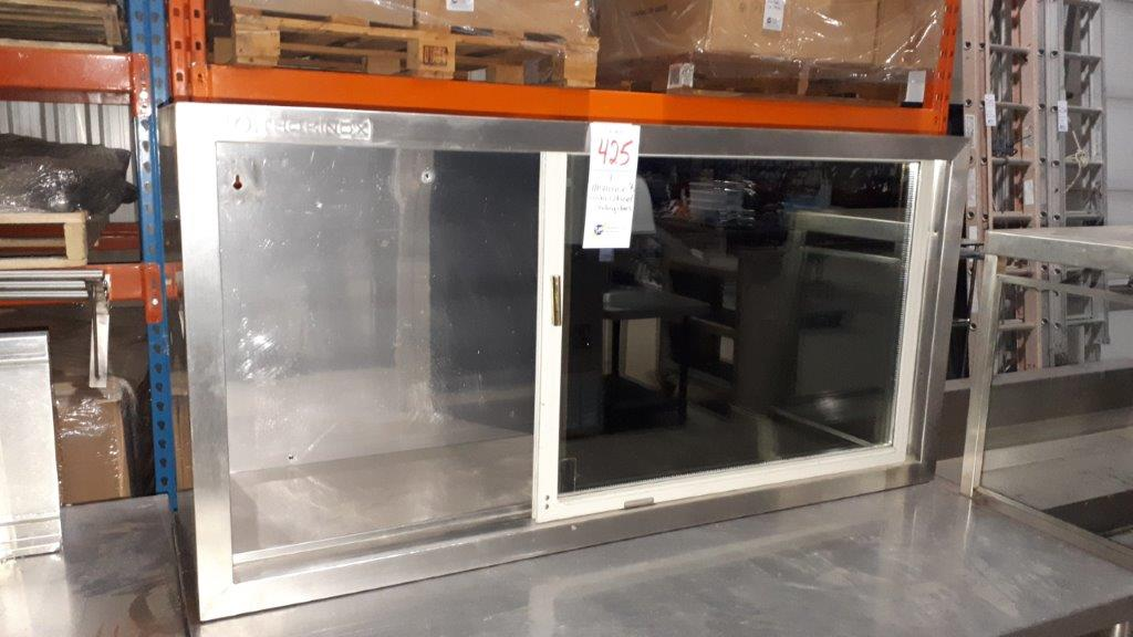 Lot 425 - Thorinox stainless steel wall cabinet & sliding doors