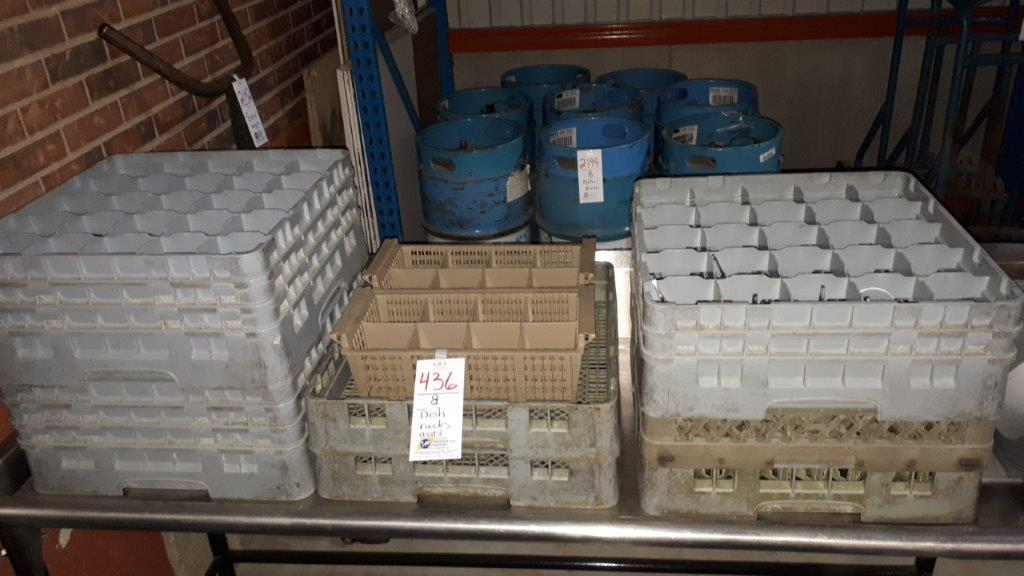 Lot 436 - Dish racks assorted