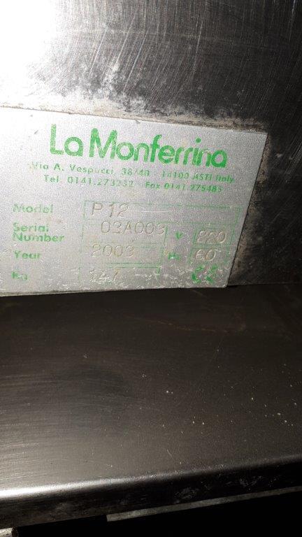 Lot 412 - La Monferrina double vat pasta machine, year 2003