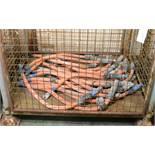 22x 1m Lengths 300mm2 Orange Cable.