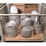 15x Aluminium Cooking Pots with Lids.