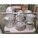18x Aluminium Cooking Pots with Lids.