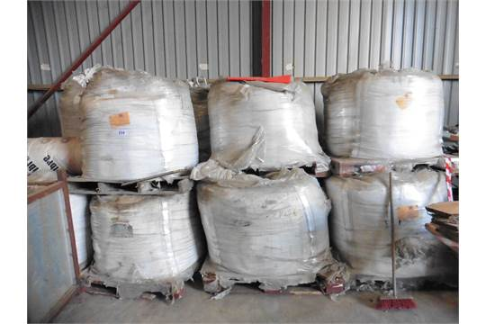 Approximately 20 1 tonne bags of Sika Pave NF grout cement