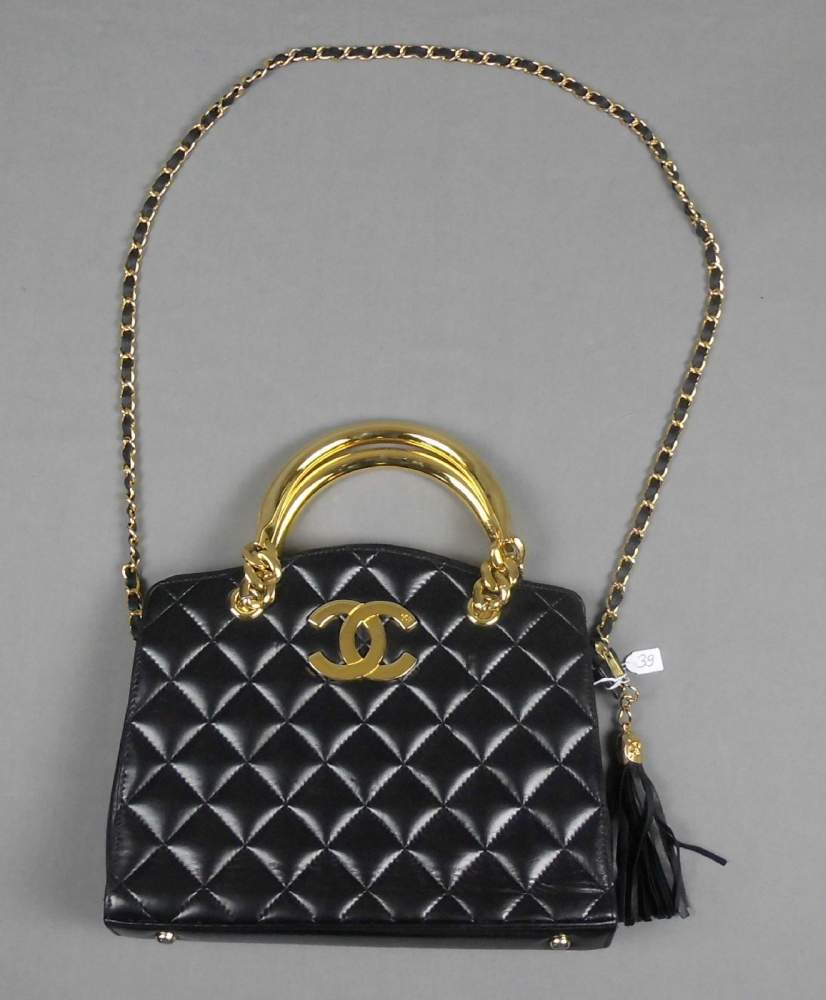 coco chanel vintage handtasche shopper klassisches. Black Bedroom Furniture Sets. Home Design Ideas