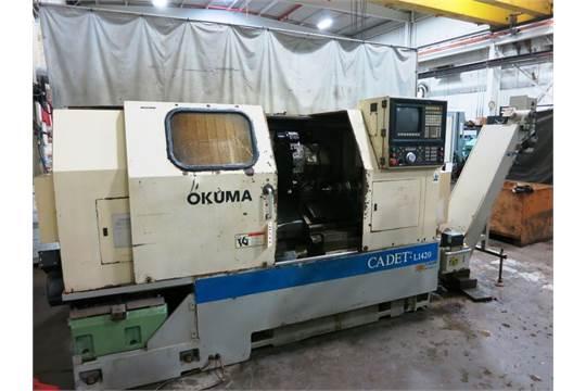 Okuma Cadet L1420 2-Axis LNC-10 CNC Turning Center lathe, S/N 0019