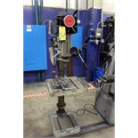 PEDESTAL DRILL PRESS, VECTRAX MDL. 00492103, adj. height table, variable spds: 300-2000 RPM