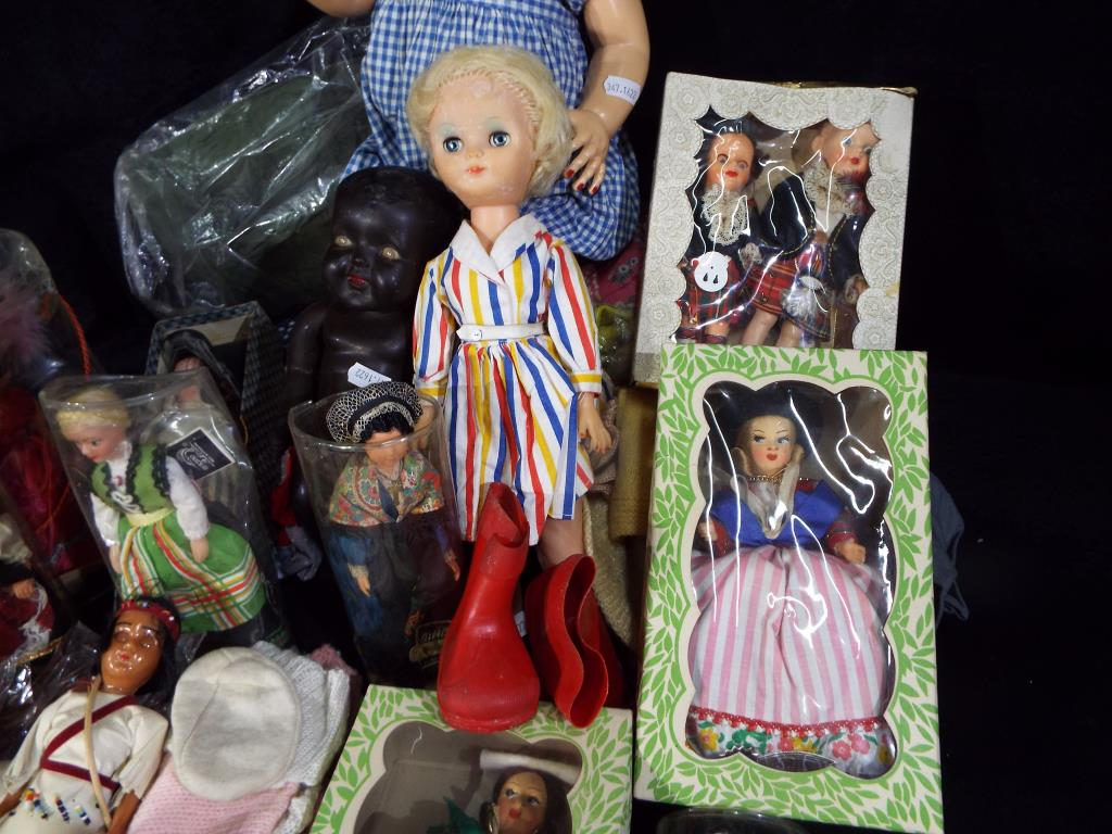 A collection of three mid-century dolls to include a black Marie-Mia doll approximately 5 cm (h), - Image 3 of 5