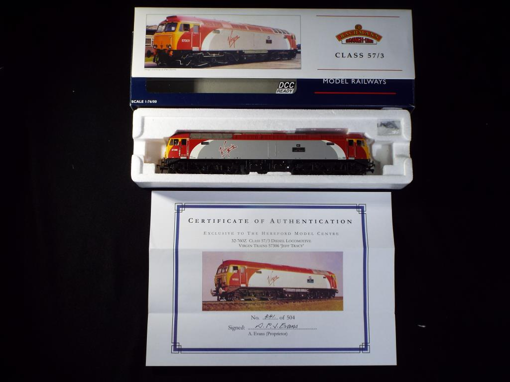 Lot 48 - Bachmann - A boxed DCC Ready Limited Edition OO Gauge No.32760Z Class 57/3 Diesel Locomotive. Op.No.