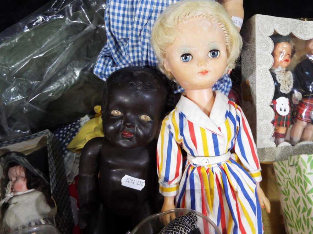 A collection of three mid-century dolls to include a black Marie-Mia doll approximately 5 cm (h), - Image 4 of 5